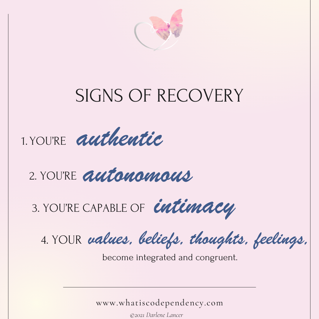 Recovery from Codependency