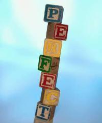 perfectionism, blocks spelling perfect
