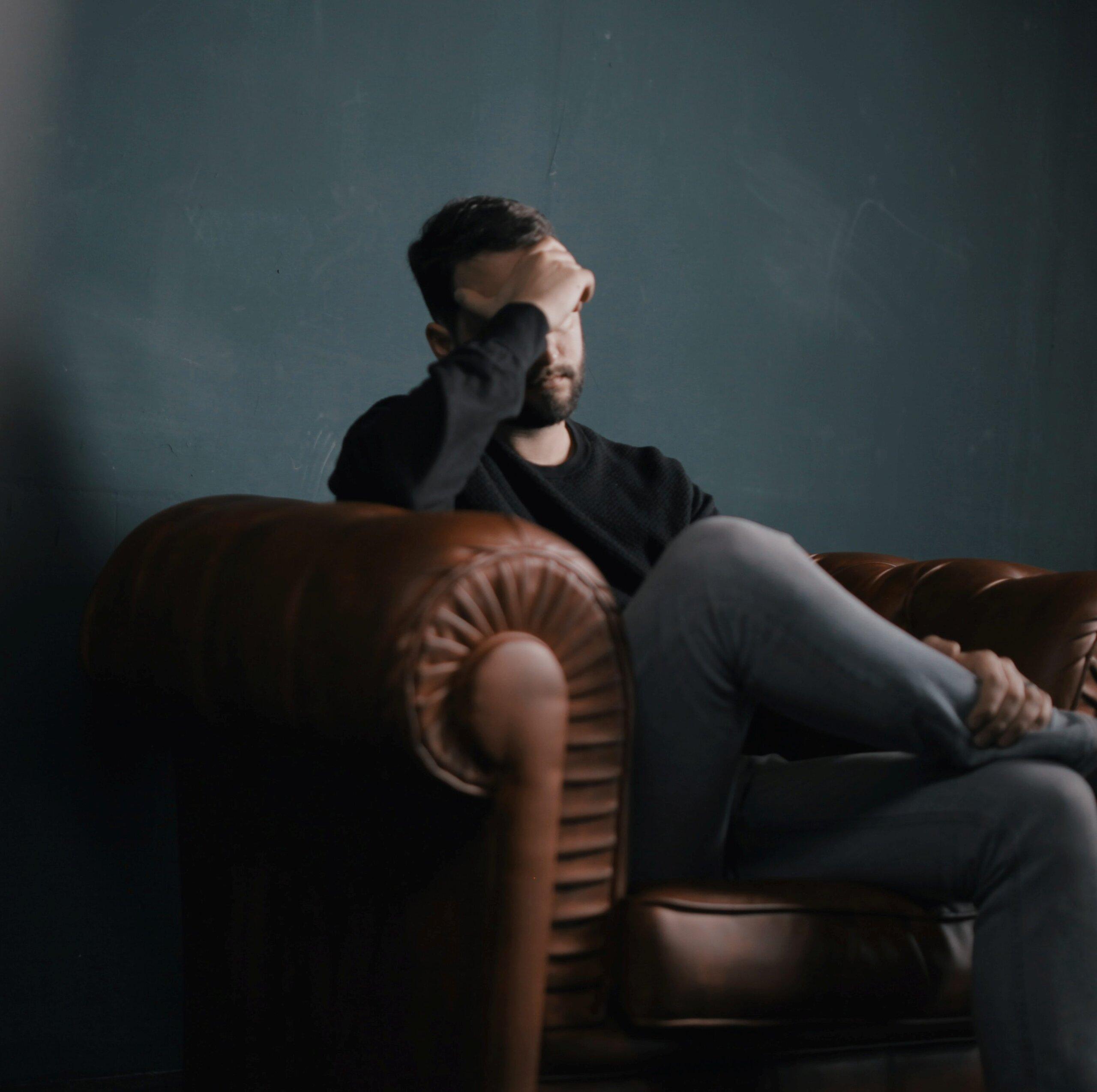 depressed, hopeless man